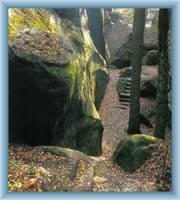 Eingang in den Felsenlabyrinth