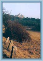 Trockene Felsen aus Malá Skála