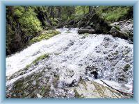 Anblick auf Wasserfälle von Bílá Opava