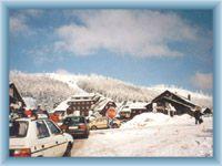 Parkplatz im Bergsattel Červenohorské sedlo
