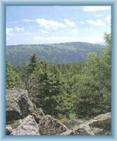 Berg Červená hora vom Berg Vozka
