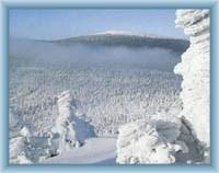 Blick auf den Berg Keprník vom Berg Červená hora