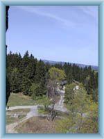 Anblick aus dem Aussichtsturm Bramberk