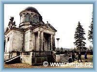 Die monumentale Familiengruft auf dem Friedhof