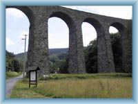 Eisenbahnviadukt im Kryštofovo Údolí