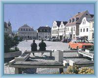Stadtplatz in Hrádek nad Nisou