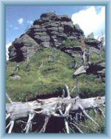 Gipfelfelsen vom Berg Jizera