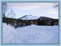 Berg Čertova hora im Winter