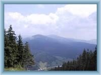 Blick vom Berg Čertova hora