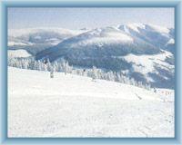 Blick vom Berg Medvědín