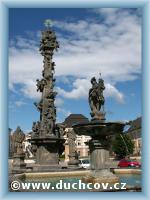 Brunnen mit St. Florian Bildsäule