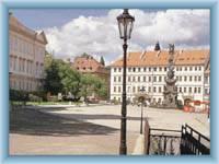 Der Schloßplatz in Teplice