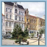 Der Beneš-Platz in Teplice