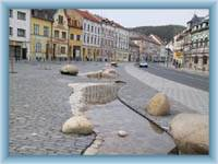 Der Stadtplatz in Nejdek
