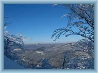 Berg Klíč - Blick von der Bergspitze