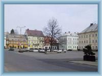 Stadtplatz in Krásná Lípa