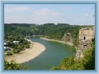 Cornštejn - Anblick auf den Fluss Dyje
