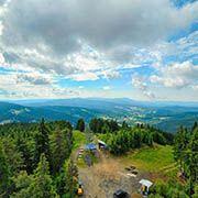 Seilbahn auf den Berg Špičák