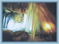 Höhle in Felsen Teplické skály