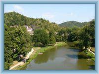 Fluss Ohře in Loket