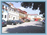 Zentrum der Gemeinde Frymburk