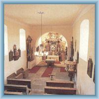 Interieur der Kirche in Nicov