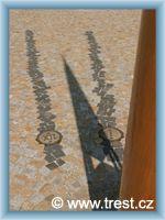 Třešť - Sonnenuhr