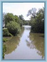 Fluss Sázava in Havlíčkův Brod