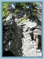 Bergsteiger im Tal von Doubrava
